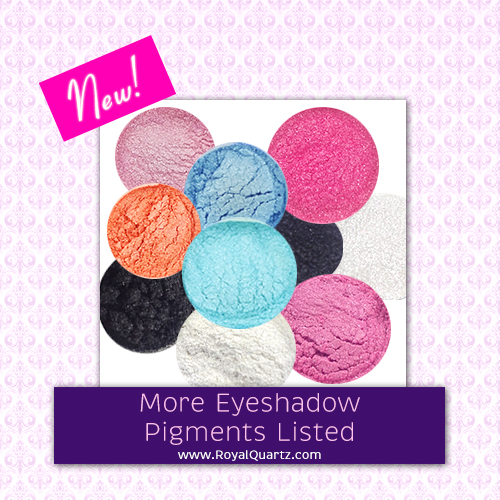 More eyeshadow pigments have been listed on RoyalQuartz.com